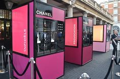 Chanel Vending Machines, London. #retail #merchandising #popup