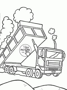 Real Fire Truck Scania coloring page for kids, transportation ...