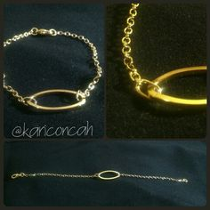 Bracelet gold pulseira dourada com detalhe by @kariconcah #pulseira #semfiltro