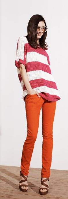 Tommy Hilfiger SS13 Diva Sweater, Rome Slim Jeans, Ashley Sandal #tommyhilfiger #SS13 #womenswear #Spring2013