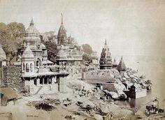 Benares - The Burning Ghat by Samuel Bourne