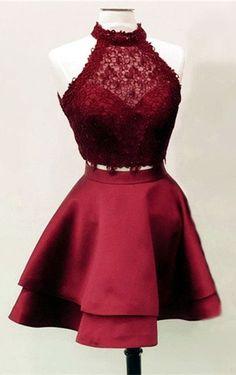 Burgundy Homecoming Dresses,Two Piece Homecoming Dresses,Short Prom Dresses 2019 Hoco Dresses, Quinceanera Dresses, Club Dresses, Homecoming Dresses, Pretty Dresses, Sexy Dresses, Evening Dresses, Fashion Dresses, Summer Dresses