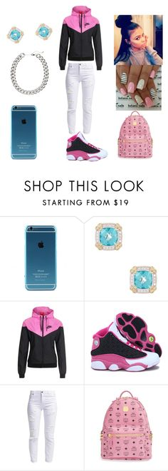 """""""Dabbin on these hoes"""" by kate-lmfao ❤ liked on Polyvore featuring NIKE, Miss Selfridge, MCM and H&M"""