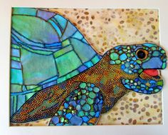 Woo! This I've got to study! Stained glass, batik, what else?  Eleanor Pigman