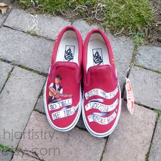 6eba8dc7c8 Mumford   Sons Painted Vans Slip-on Shoes. Available through etsy.com at  hjartistry.etsy.com Use Code  Pin10 on etsy to get  10 off your order  (limited time ...