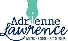 Logo for Adrienne Lawrence. Writer. Editor. Storyteller. #identity #logo #design kalicodesign.com