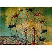 Found it at Wayfair - Diamond Décor Ride The Ferris Wheel Photographic Print Canvas