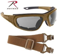 Coyote Brown Interchangeable Sunglasses to Goggles Tactical Optical System #survivalgear