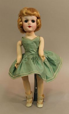 """14"""" HARD PLASTIC MARKED MARY HOYER DOLL DRESSED IN TAGGED CLOTHING. Blue eyes..."""