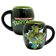 Teenage Mutant Ninja Turtles Oval 18-ounce Coffee Cup