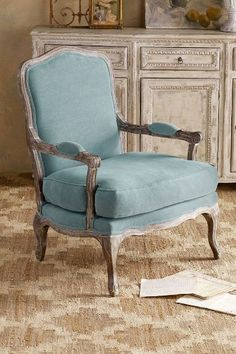 Seine Bergere Armchair When on one of their trips to France, our merchants fell in love with this stunning antique Louis XV armchair - and we can certainly see why. Our versio
