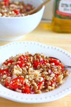 Wheat Berry Salad with Corn and Smoked Mozzarella
