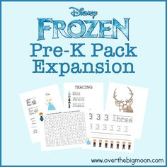 Free Frozen activities - great for a kindergarten intervention group practicing numbers an letter id