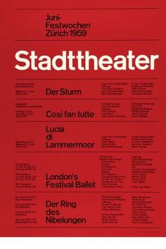 Swiss Style, or International Typographic Style, is often characterized by highly structured layouts and sans-serif typefaces that attempt to achieve a clear, legible, and harmonious design. Cv Inspiration, Typography Inspiration, Graphic Design Inspiration, Graphisches Design, Swiss Design, Layout Design, Print Layout, Print Design, Logo Design