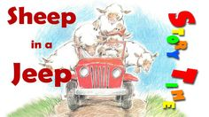 Sheep in a Jeep | Rhyming Story Book for KIDS!!!