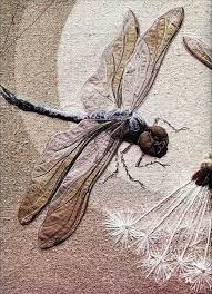 annemieke mein - dragonfly in textile art -Google Search
