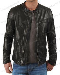 New Popular Men's Genuine Lambskin Motorcycle Slim fit Biker Jacket MK 08 #WesternOutfit #Motorcycle