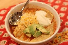 Chicken toritilla soup...looks yummy! Mel never disappoints!