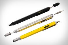 Monteverde Multi-Tool Stylus Pen; A pen, pencil, screw driver, stylus, and ruler all in one! I needs it