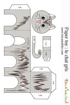 Paper toy chat tigré