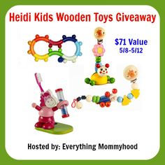 Bloom Into Baby: Heidi Kids Toys Giveaway - Ends 5/12