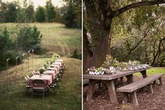 When we get married and have a house with some land, I want to throw dinner parties like this. (: