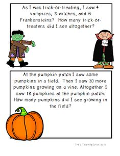 math worksheet : 1000 images about word problems on pinterest  word problems  : Halloween Math Word Problems Worksheets