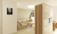 Projekt mieszkania w centrum Wrocławia - salon.