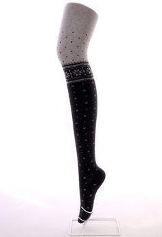 Dots and Snowflake Two-tone Tights