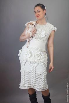 white dress by NeedLine on Livemaster.ru