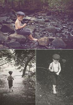 4-year-old boy stylized fishing photo shoot! I WILL be doing this with my Roos when they are old enough! Child Photography Boy, Vintage Kids Photography, Themed Photography, Photography Poses, Infant Photography, Vintage Photo Shoot, Boy Photo Shoot, 4 Year Old Boy Birthday, Birthday Photos
