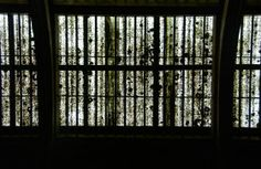 Abstract; overhead panels; Old Melbourne Gaol; Melbourne, Australia.  January 2014.