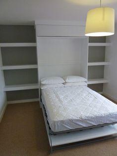 fold away bed in bespoke cabinet