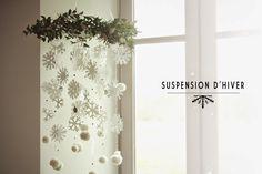 DIY :: SUSPENSION D'HIVER EN PAPIER - Aux petites merveilles