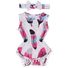 This arrow romper is made with good quality cotton for a very soft feel on your little one's skin. This trendy boho outfit is sure to make your little stand out #BabyTips