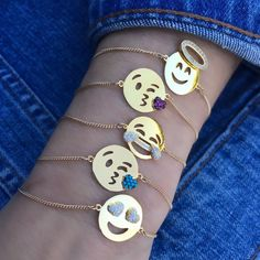 Emoji Bracelet - $85  14kt Goldfill  Adjustable chain with extender