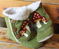 Shroom Blippers (bootie slippers), for adults