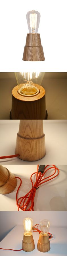Stylish and neat, this Lovely Modern Style Wooden Table Lamp in Candlestick Shape is more than a useful lighting tool.