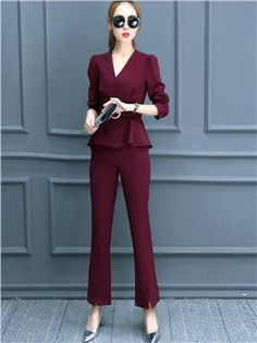 Ericdress Fashion Solid Color Suit