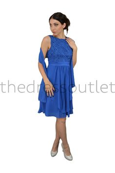 Simple Bridesmaids Sleeveless Chiffon Formal Short Dress - The Dress Outlet - 1 Cute Dresses, Summer Dresses, Formal Dresses, Plus Size Short Dresses, Formal Shorts, Dress Out, Groom Dress, Beautiful Gowns, Cold Shoulder Dress