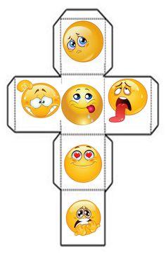 Kindergarten Portfolio, Kindergarten Writing, Kindergarten Activities, Preschool Crafts, Diy Gift Box Template, Emoji Decorations, Paper Toys, Paper Crafts, Emotions Preschool