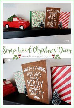 DIY Scrap Wood Christmas Decor