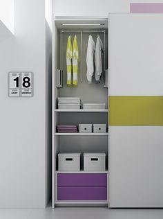 """#Arredamento #Cameretta Moretti Compact: Collezione 2012 """"Team"""" > Kids – Soluzione a #Soppalco >> ks30 #armadio http://www.moretticompact.it/kids.htm"""