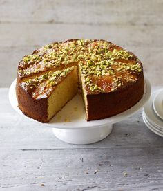 Nigella Lawson's perfect cake: simple, beautiful, fragrant and beguiling. apricot almond cake with rose and cardamom. Rosewater Recipe, Clementine Cake, Springform Cake Tin, Cupcakes, Almond Cakes, Food Cakes, Let Them Eat Cake, Cake Tins, Food Processor Recipes