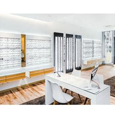 New Design Eyeglass Optical Frame Displays Showcase Store Cabinet Counter Spa Furniture, Furniture Design, Showcase Store, Beauty Salon Equipment, Designer Bar Stools, Salon Chairs, Latest Design Trends, Frame Display, Optical Frames