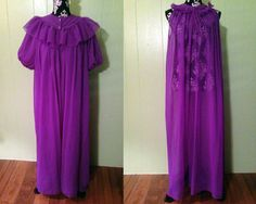 1950s Vintage Purple Sheer Nightgown and by StardustVintageRetro