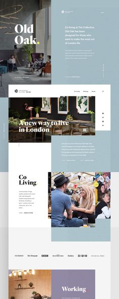 Creative direction and UI design for the Old Oak new website.