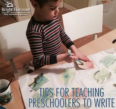 """When your child is not yet interesting in writing here are a few """"nontraditional"""" tips for preparing and teaching preschoolers to write."""