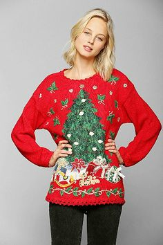 Urban Renewal Vintage Ugly Christmas Sweater SOOOO excited for Christmas Sweater shopping!