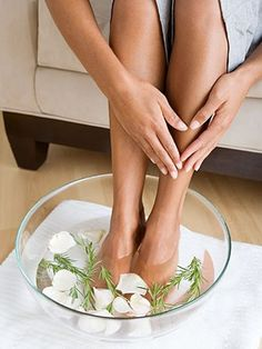 For dry feet: Pour hot water in a tub and add one tablespoon salt, 2 lemons, one tablespoon moisturizing lotion and some soap. Put your dry cracked feet in the hot water and slowly rub your feet on one another